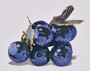 Purple Rain sculpture of grapes