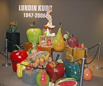 Centerpiece display at Lundin Kudo retrospective