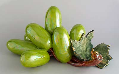 Green grape sculpture